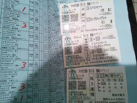 優駿スプリント2016馬券