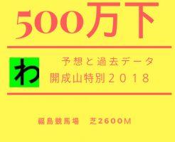 開成山特別2018キャッチ