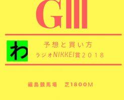 ラジオNIKKEI賞2018予想キャッチ
