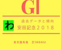 安田記念2018データキャッチ