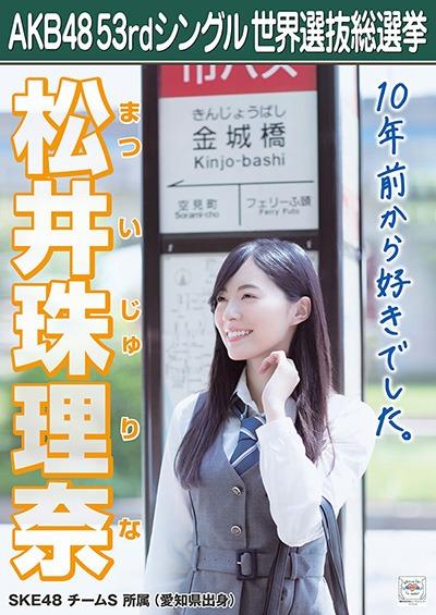 AKB48総選挙2018松井珠理奈