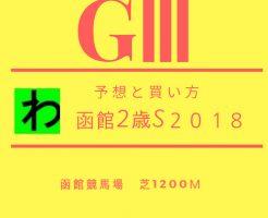 函館2歳S2018予想キャッチ