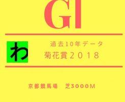 菊花賞2018データキャッチ