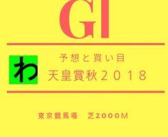 天皇賞秋2018予想キャッチ