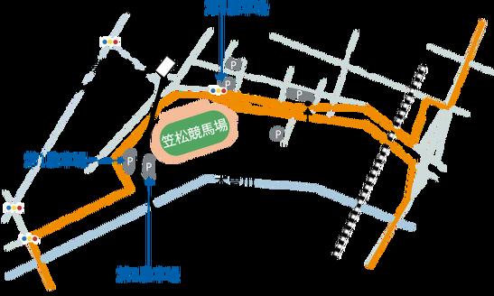 笠松競馬場MAP