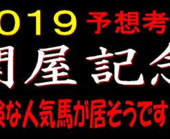 関屋記念2019キャッチ