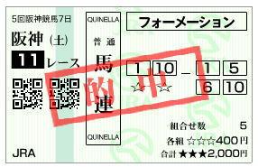 阪神カップ2019馬連