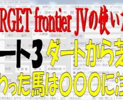TARGET frontier JV3キャッチ