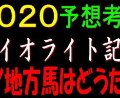 ダイオライト記念2020キャッチ