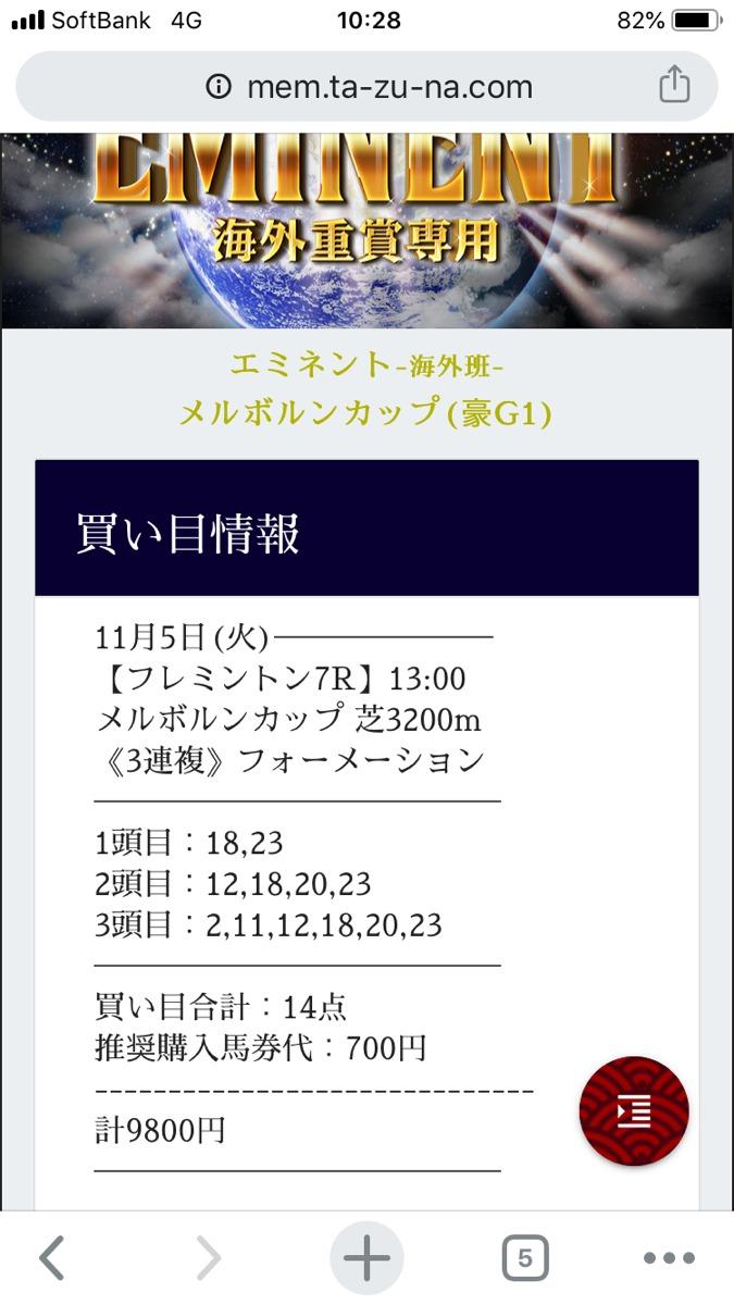 TAZUNA_20191105海外エミネント(海外重賞専門プラン)