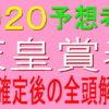 天皇賞春2020【枠順確定】全頭解説|良枠を引いたのは?