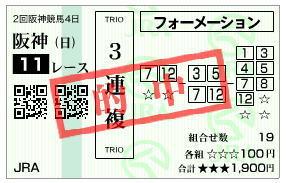大阪杯2020-3連複