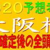 大阪杯2020【枠順確定】全頭解説