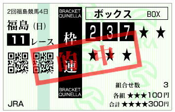 七夕賞2020馬券