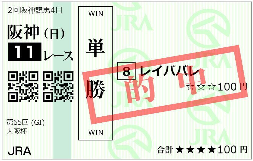大阪杯2021馬券