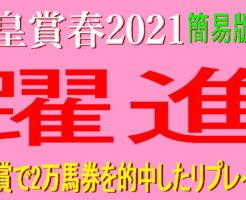 天皇賞春2021キャッチ