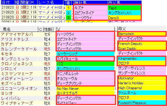 宝塚記念2021マーメイドSとのリンク2